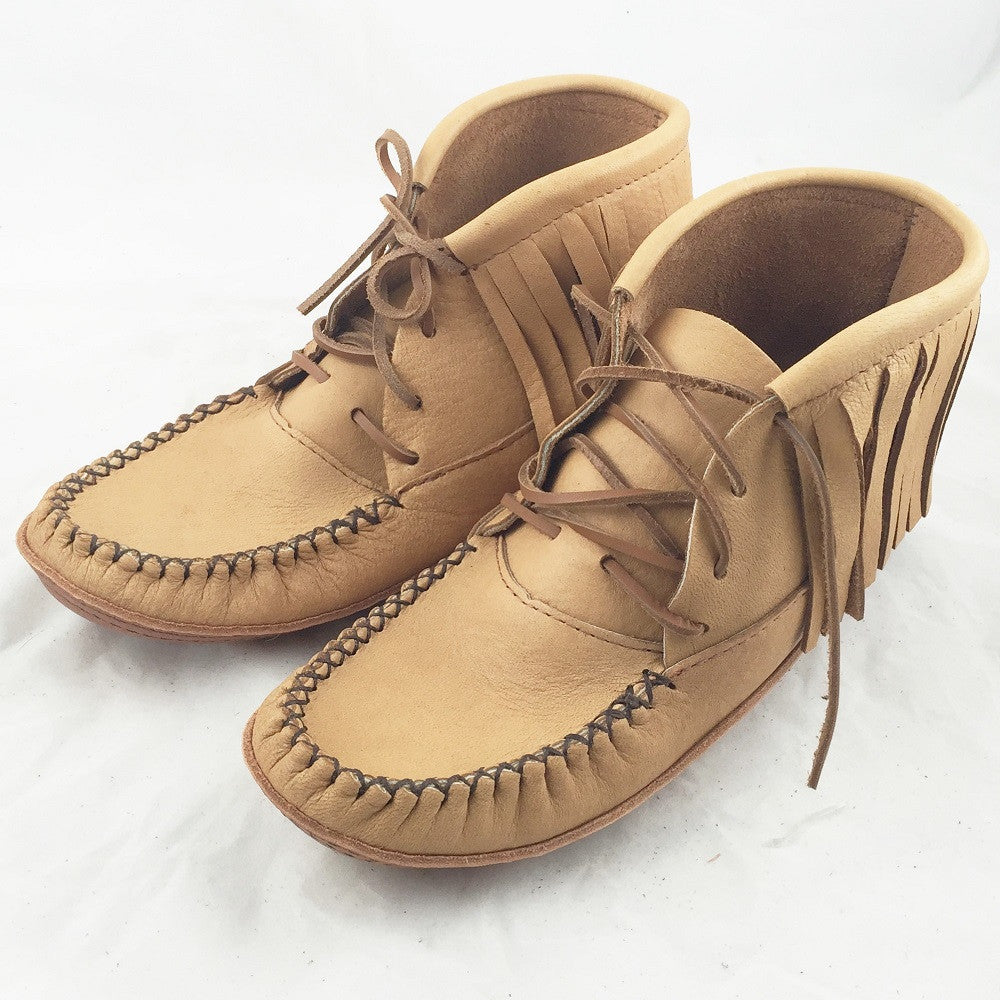Women S Moosehide Fringe Moccasins Boots Size 10 Only