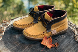 Women's Suede Leather Ankle Moccasin Boots 743INDL