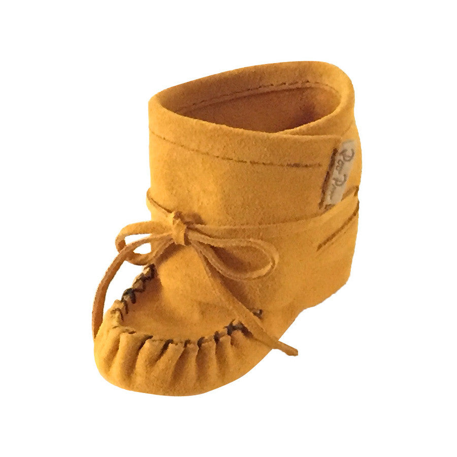 Baby Moccasin Shoes >> Baby Bootie Lace Up Real Suede Leather Moccasins Canadian Handmade – Leather-Moccasins