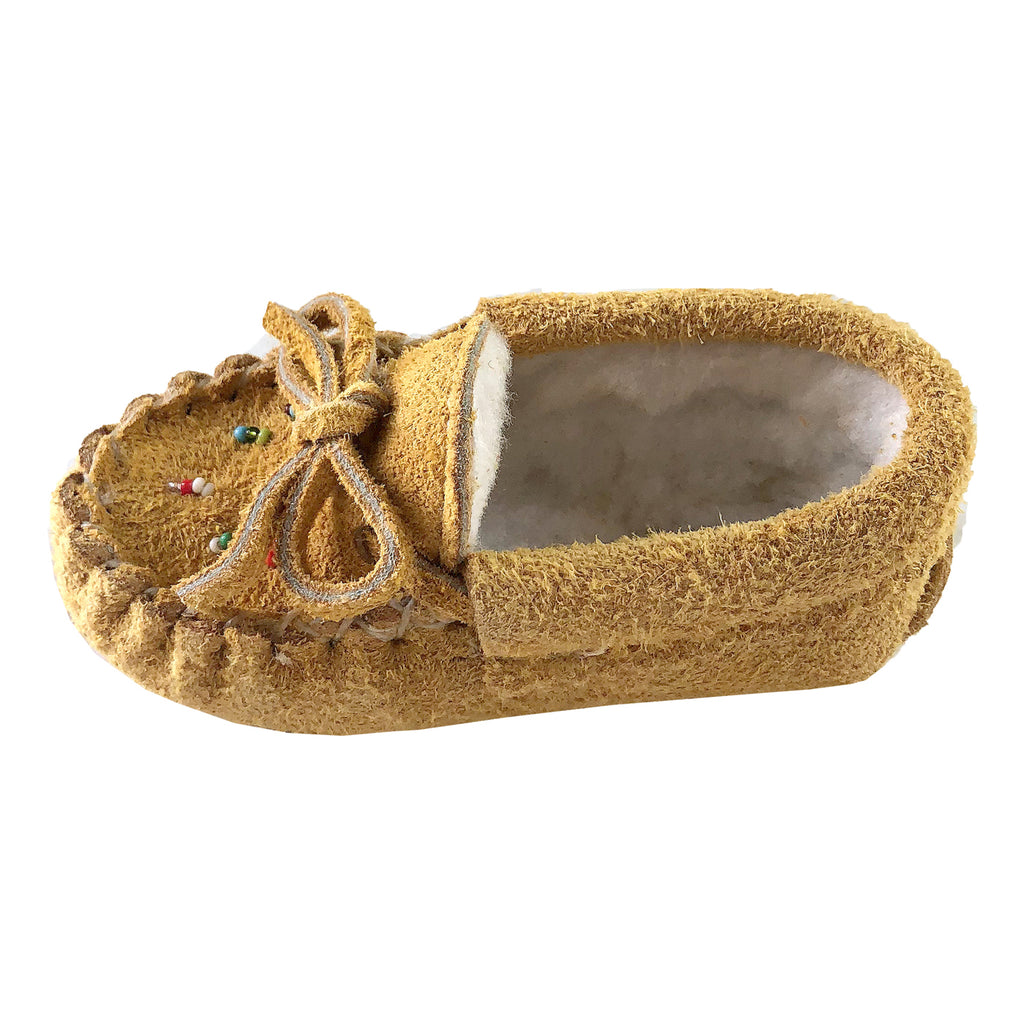 7311f34c016 Baby Soft Sole Genuine Moose Hide Suede Fleece Lined Moccasin ...