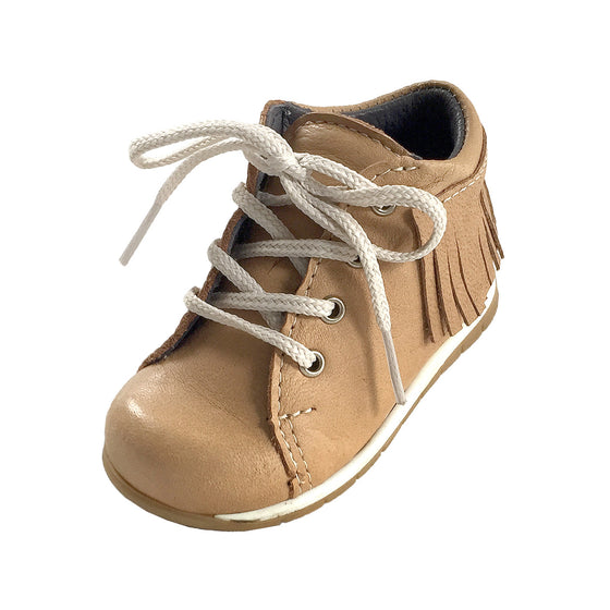 Baby Rubber Sole Moosehide Leather Moccasin Shoes B440