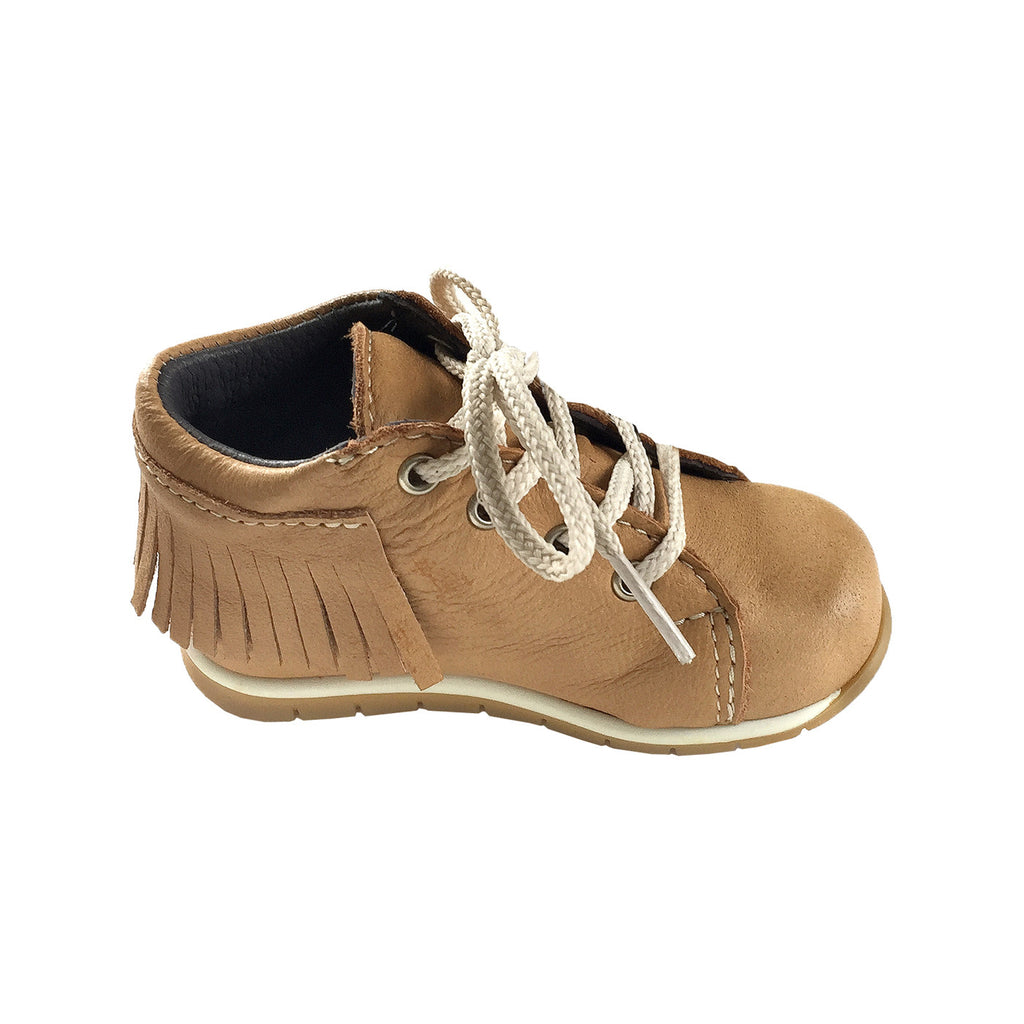 Baby & Toddler Genuine Moosehide Leather Fringed Ankle Moccasins ...