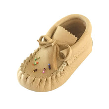 Baby Moose Hide Beaded Moccasins