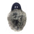 Junior Soft Sole Navy Suede Rabbit Fur Moccasins