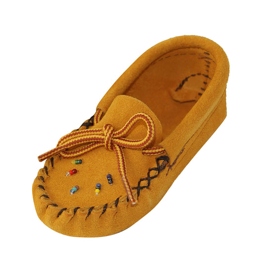 Baby Beaded Soft Sole Suede Moccasins