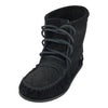 Women's Clearance Black Floral Embossed Suede Moccasin Boots (Size 10 ONLY)