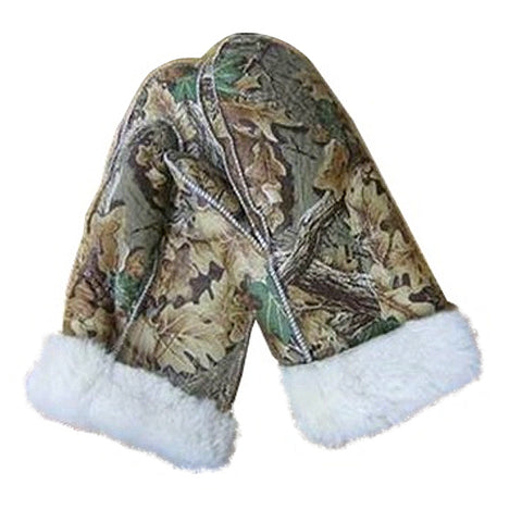 Men's Shearling Camo Mittens
