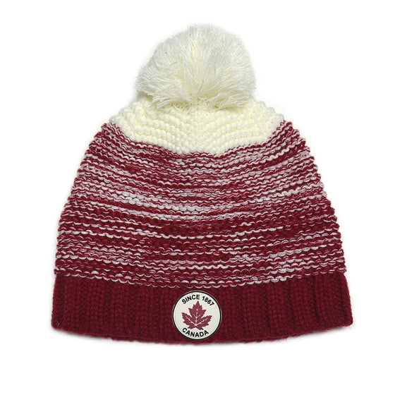 Knit Canada Toque with Pom Pom