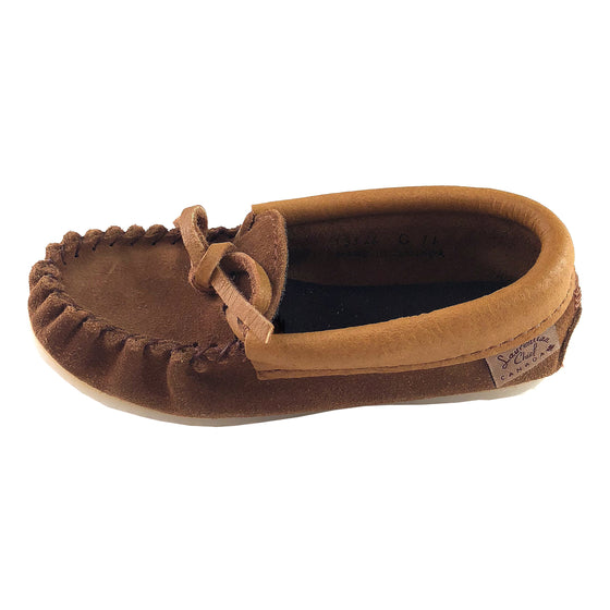 Junior's Clearance Crepe Sole Moose Hide Suede Moccasins