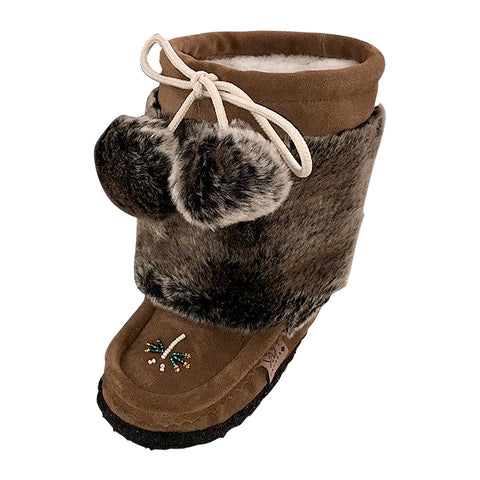 Children's Suede Faux Fur Mukluks 1982447TOC