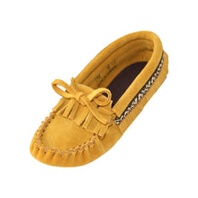 Junior Fringed Soft Sole Suede Moccasins