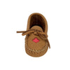 Junior Maple Leaf Moose Hide Leather Moccasins