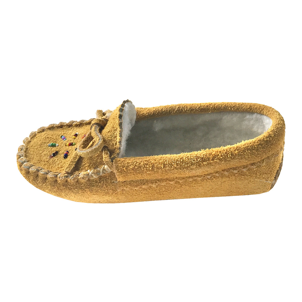 3342411a8ce Children s Moosehide Suede Fleece Lined Beaded Moccasins 402-C. Images   1    2   3 ...