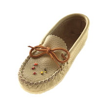 Children's Crepe Sole Leather Beaded Moccasins 020-6C