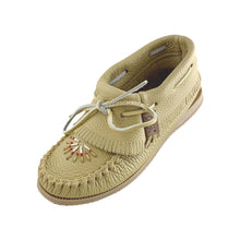 Women's Clearance Rubber Sole Beaded Ankle Moccasin Shoes