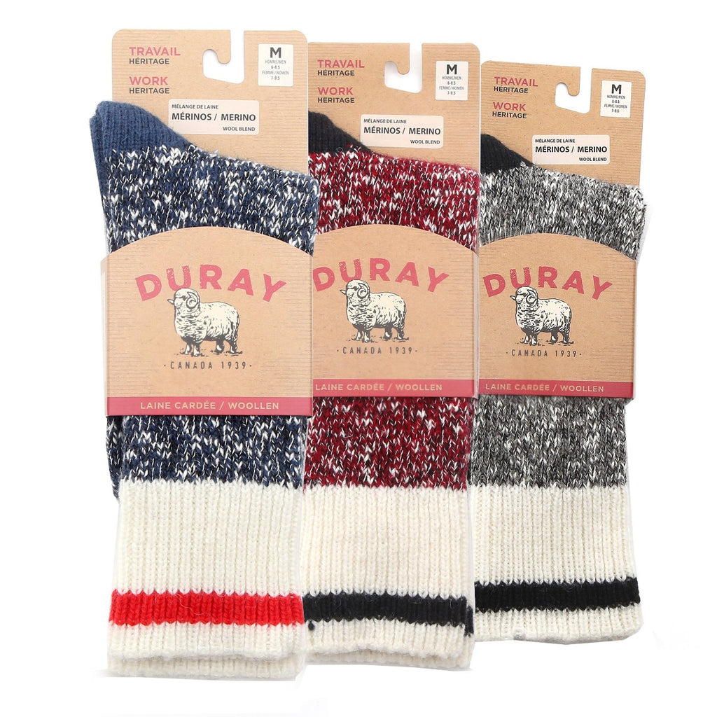 Heavy Crew Wool Work Boot Socks for Men and Women 3 Pack