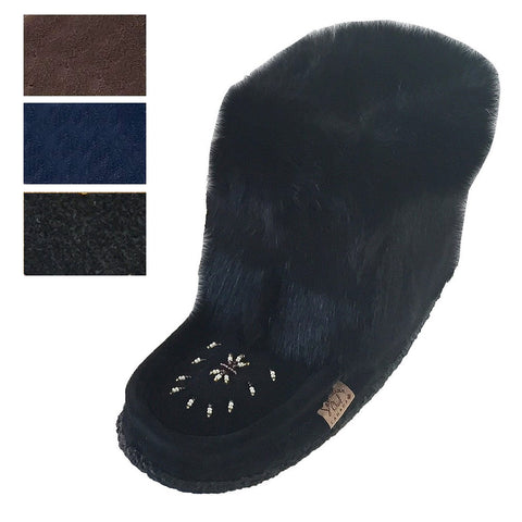 Women's Short Rabbit Fur Mukluks 552447