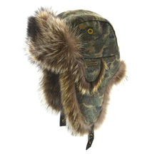 Raccoon Aviator Hat with Camo