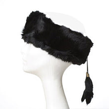 Rabbit Fur Headband with Tassels