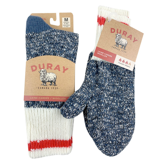 Women's Wool Work Socks & Mittens Gift Set