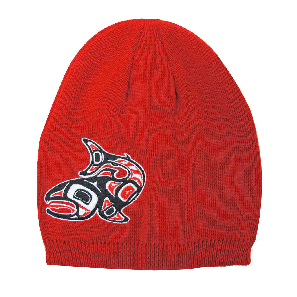 Jamie Sterritt Salmon Embroidered Knitted Hat