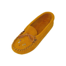 Children's Soft-Sole Suede Moccasins with Beading 120-C & 120-J