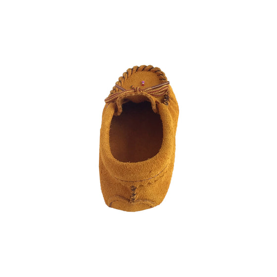 Children's Soft Sole Beaded Suede Moccasins