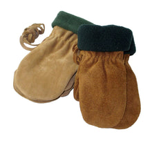 Children's Clearance Fleece Lined Suede Mittens