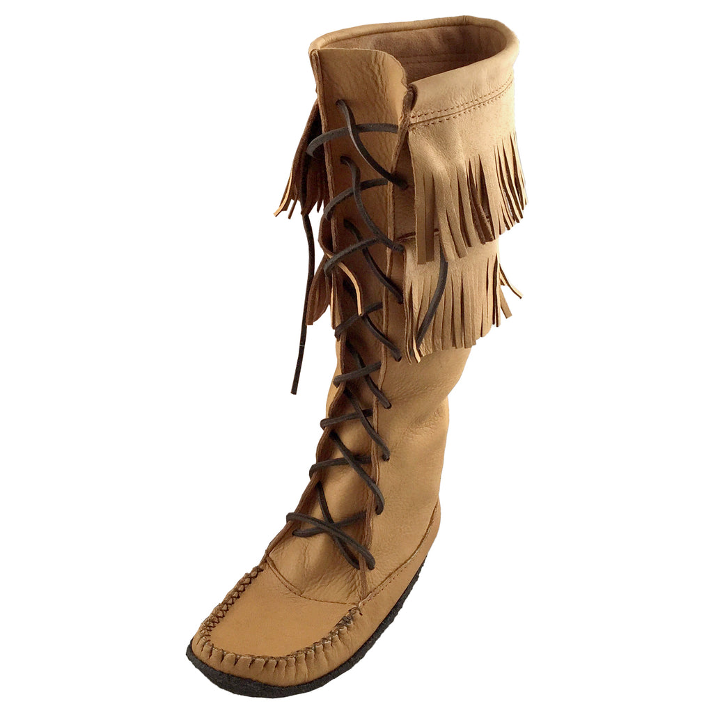 "Women's 15"" Moose Hide Fringed Mukluks Boots"