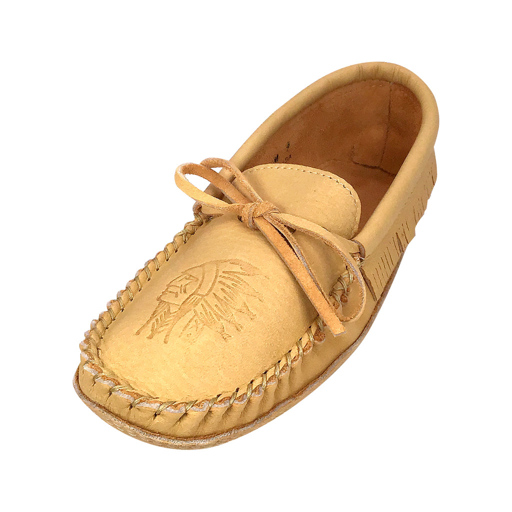 Men's Soft Sole Moose Hide Leather Moccasins