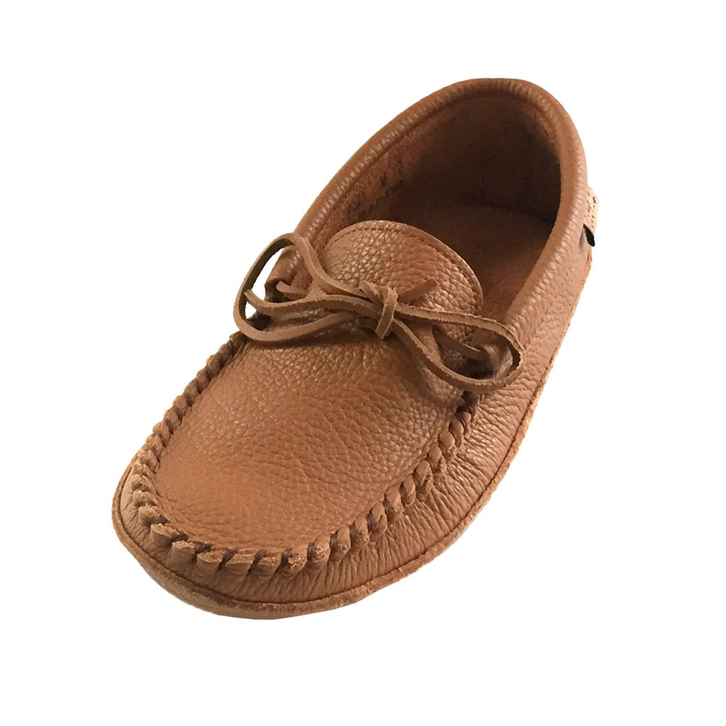 Womens Soft Sole Brown Leather Laurentian Chief Moccasins