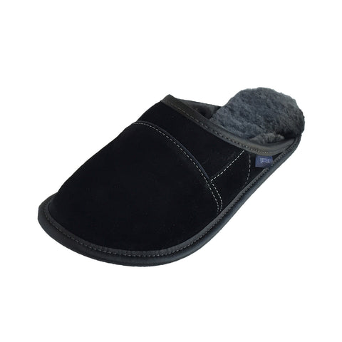 Men's Sheepskin Slip-On Slippers - 350-M