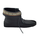 Men's Black Leather Moccasin Boots 137597Bk