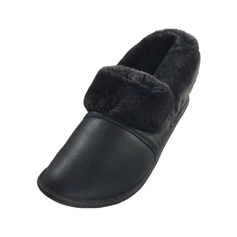 Men's Leather Sheepskin Slippers 2550M (Select Colours/Sizes Available)