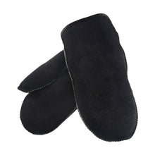 Men's Black Sheepskin Mittens M-1012BL