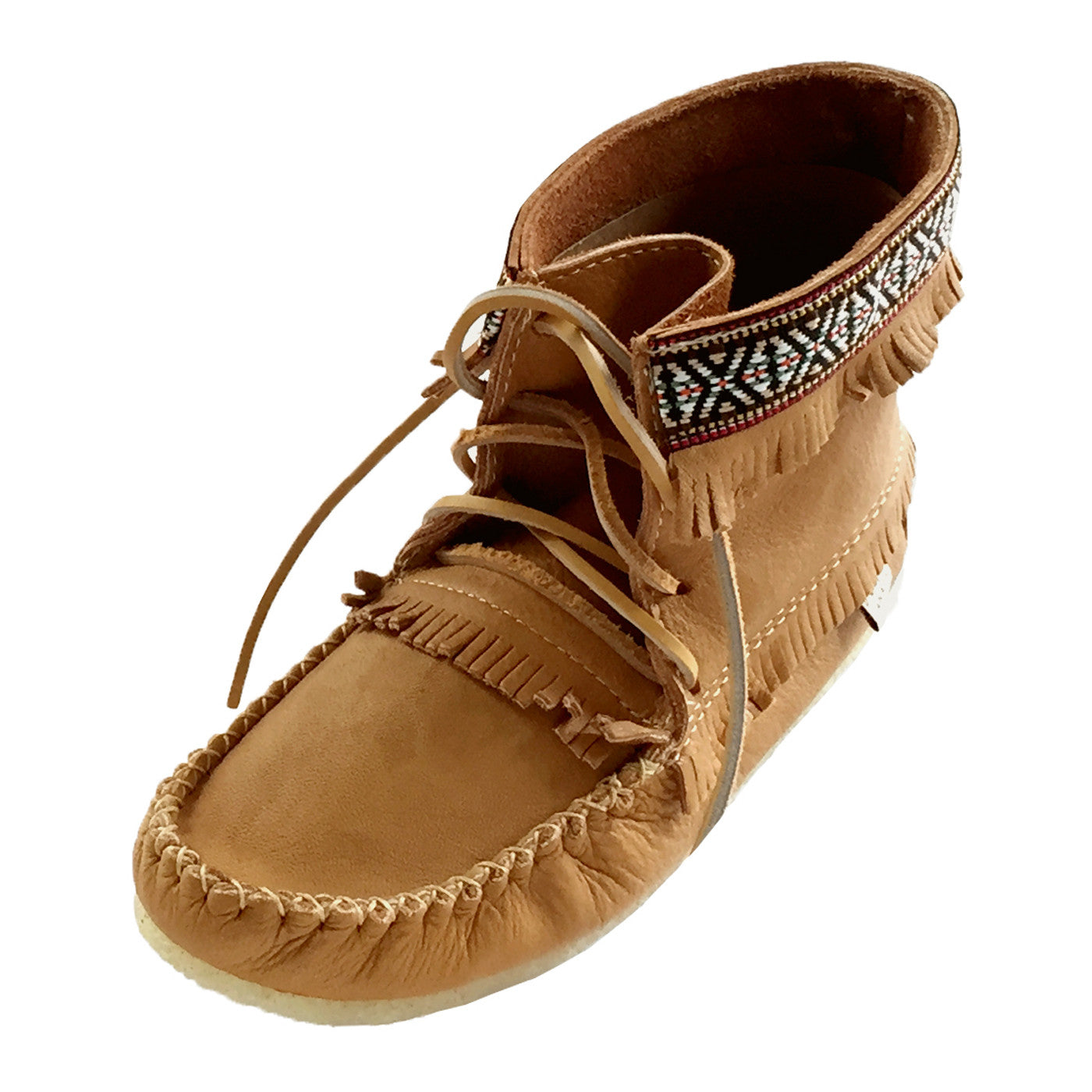 Men S Cork Brown Ankle Moccasin Boots Handmade From Real