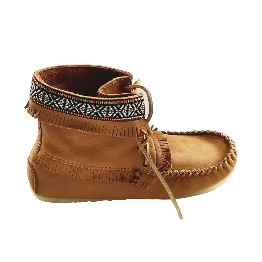 97ddb3dce Men's Cork Brown Leather Moccasin Boots 137597M-C. Images / 1 / 2 / 3 / 4 /  5 ...