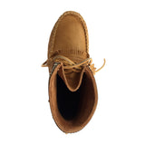 Men's Cork Brown Leather Moccasin Boots 137597M-C