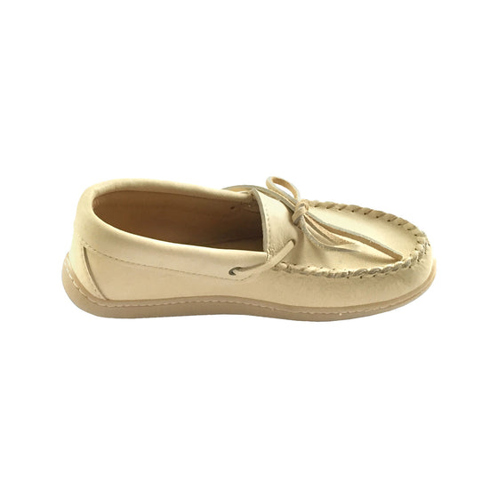 Men's Rubber Sole Caribou Leather Moccasins