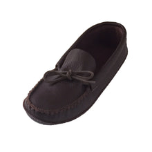 Men's Soft Sole Leather Moccasins Dark Burgundy