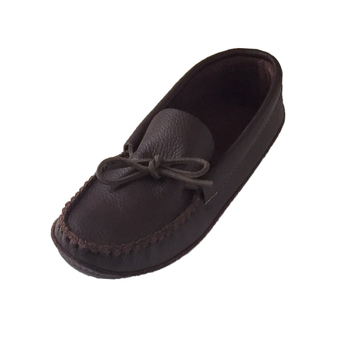 Men's Soft Sole Leather Moccasins Dark Burgundy 186