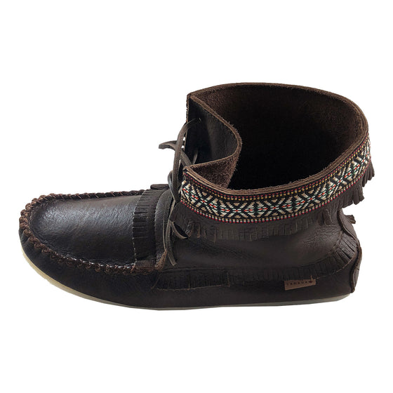 Men's Fudge Brown Leather Moccasin Boots