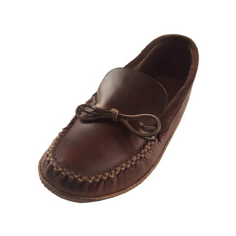 Men's Soft Sole Heavy Oil Tan Leather Moccasins 1965