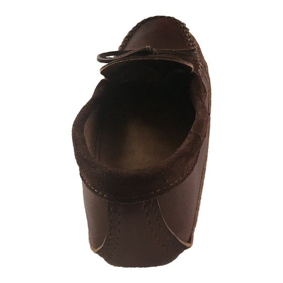 Men's Soft Sole Heavy Oil Tan Leather Moccasins