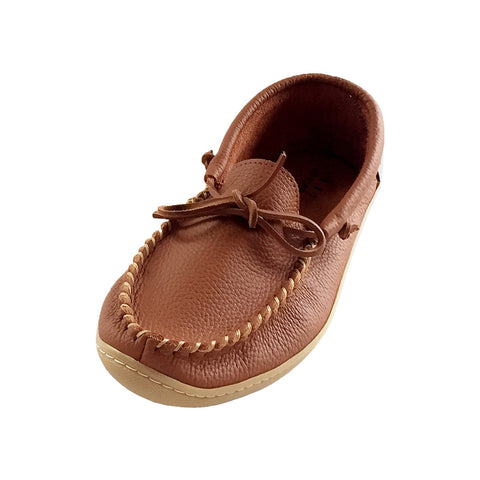 Men's Rubber Sole Genuine Leather Moccasin Shoes - 4110