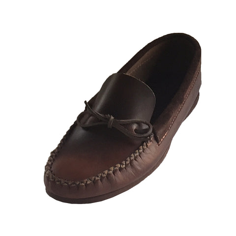 Men's Rubber Sole Loafer Style Leather Moccasins 1435XX (Size  12 & 13 ONLY)