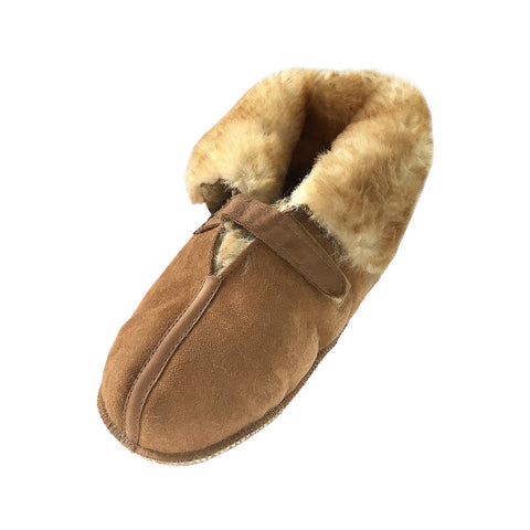 Men's Sheepskin Cabin Slippers with Velcro 961M