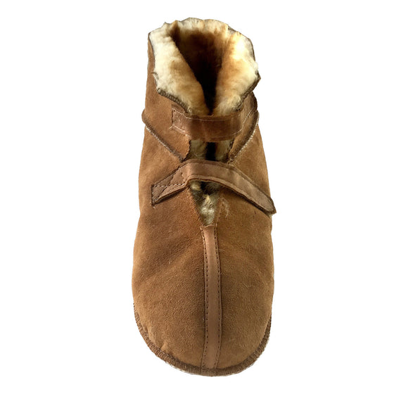 Men's Sheepskin Cabin Slippers with Velcro