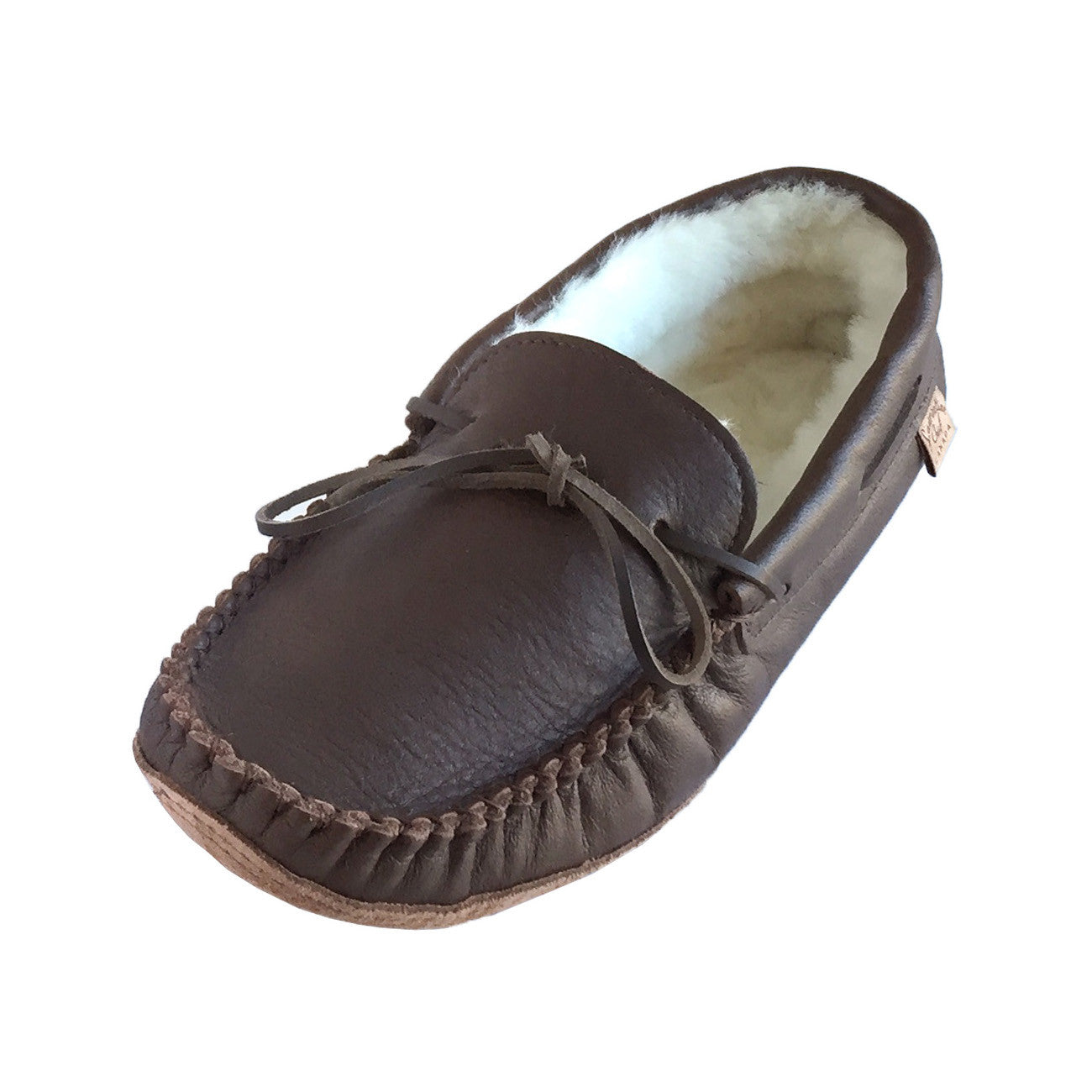 Mens Slippers Mens Moccasin Slippers Mens Moccasins Full Back Brown Slippers