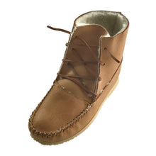 Men's Sheepskin Lined Rubber Sole Moose Hide Boots